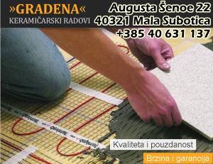 Gradena - izvođenje keramičarskih radova